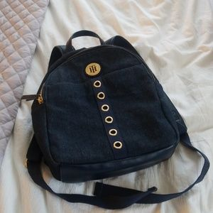 Tommy Hilfiger Dark Wash Jean Mini Backpack